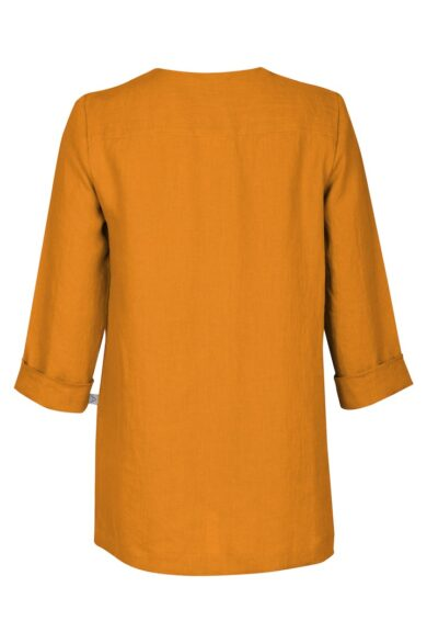 Linen blouse LIEPA, yellow (back)